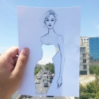 بالصور .. أردني يحوّل مناظر طبيعية إلى تصاميم نسائية بالورق