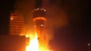 حمل زائد على الكهرباء يتسبب بحريق مسجد في اربد